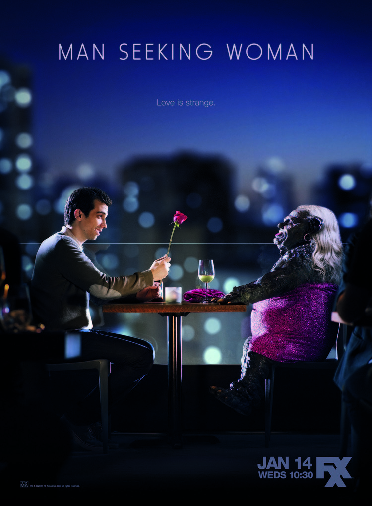 """man seeking woman review fxx Mashing up terry gilliam-like fantasy with early woody allen, """"man seeking woman"""" uses the tagline """"love is strange,"""" and as created by simon rich based on his short stories, this fxx comedy."""