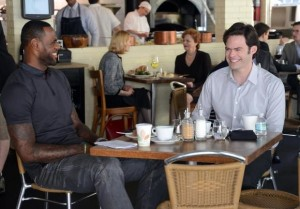 Starring opposite Bill Hader, Lebron James plays a big role in TRAINWRECK. Photo courtesy of Universal Pictures.
