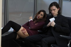 Aubrey Plaza and Liam Aiken star in NED RIFLE. Photo courtesy of Possible Films.