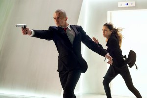 Rupert Friend as Agent 47 (Left) & Hannah Ware as Katia (Right) Photo Courtesy Of 20th Century Fox