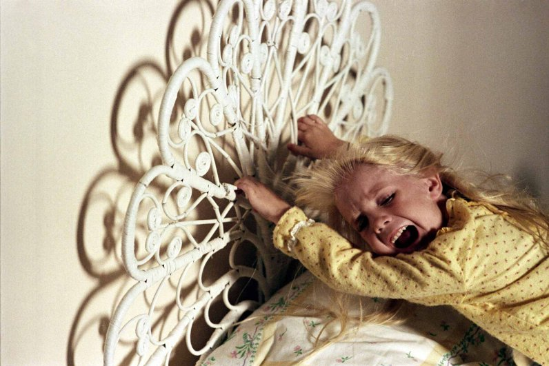 Carol Anne (Heather O'Rourke) is swallowed into the beyond in POLTERGEIST 1982.